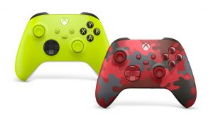 New Xbox Wireless Controller Colors Electric Volt and Daystrike Camo Announced