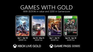 Xbox Live Games With Gold for April 2021 Announced