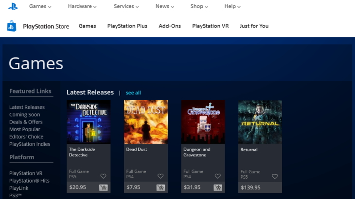 Firefox add-on old PlayStation Valkyrie PS Store