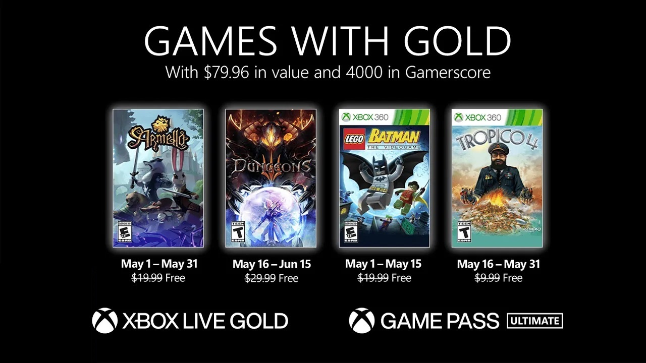 Games With Gold May 2021 lineup