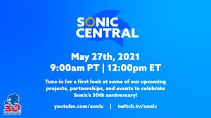 Sonic the Hedgehog 30th Anniversary Livestream Set for May 27