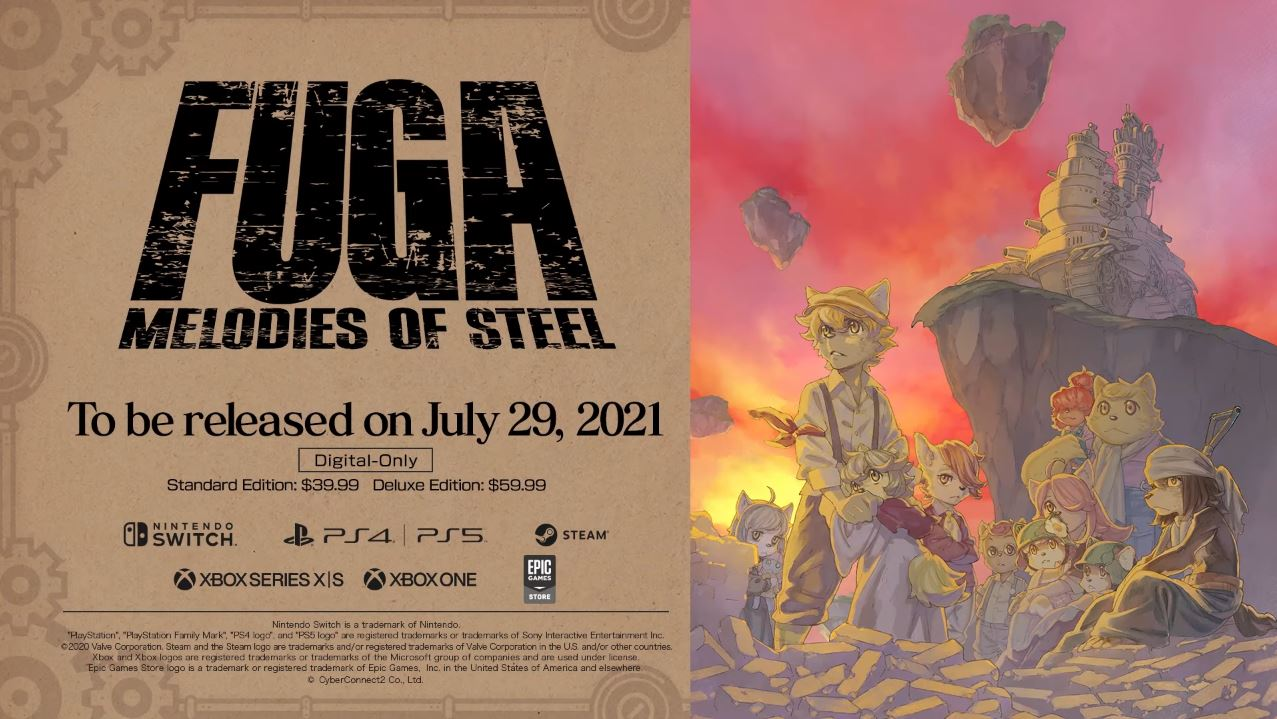 Fuga: Melodies of Steel launches July 29