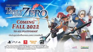 The Legend of Heroes: Trails from Zero Heads West in 2022 for PC, Switch, and PS4