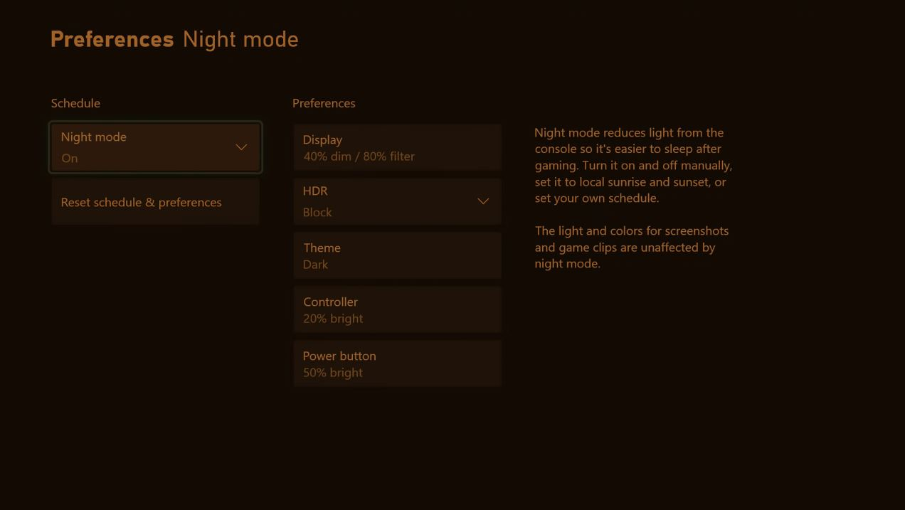 Xbox Consoles are Getting a Night Mode