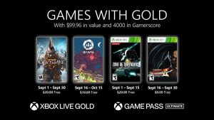 Games With Gold for September 2021 Announced