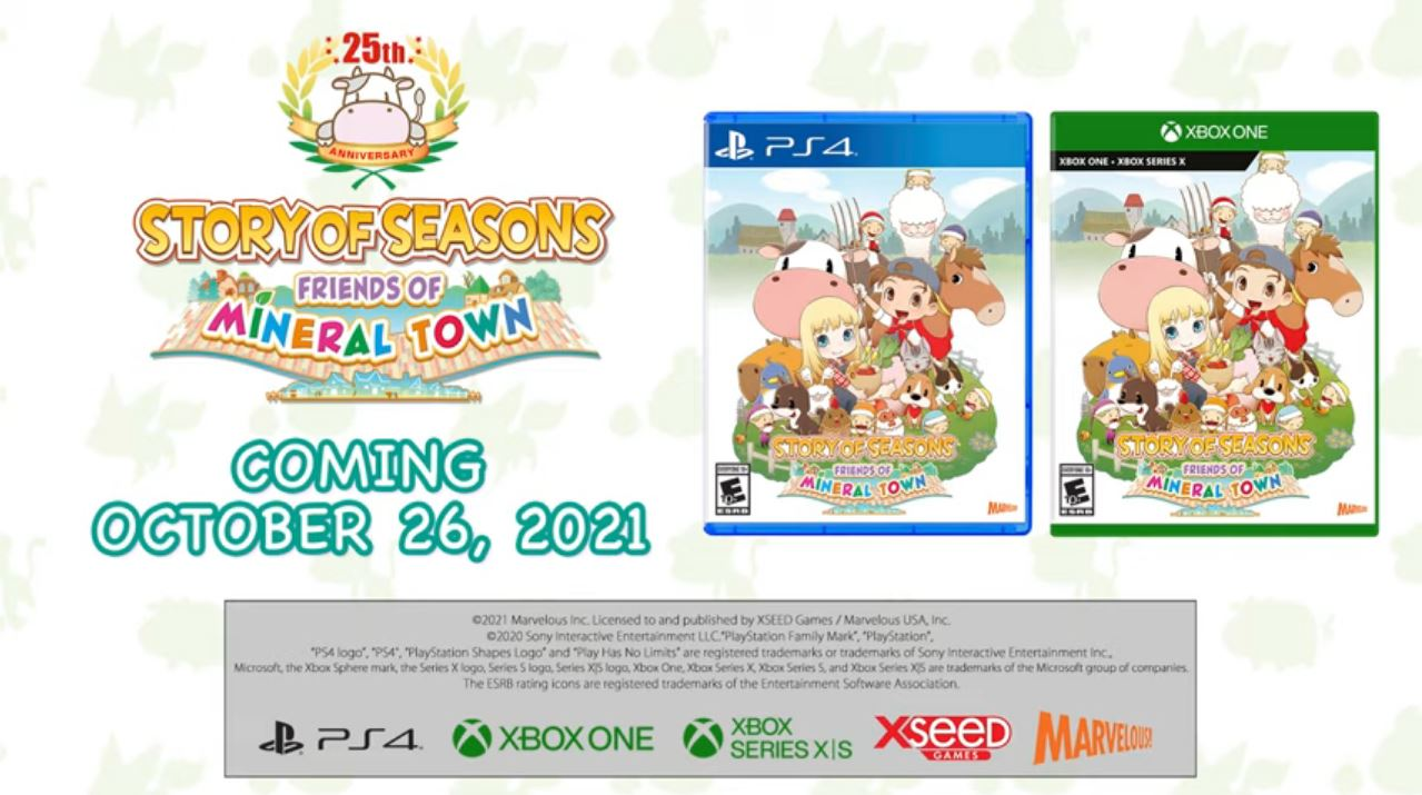 Story of Seasons: Friends of Mineral Town for Xbox and PlayStation Western Release