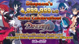 Disgaea Series Sells 5 Million; Celebrates with Sales, Character Poll, and More