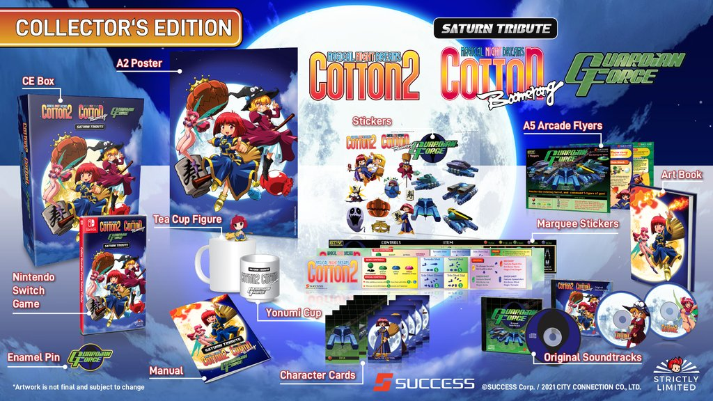 Cotton Guardian Force Saturn TributePhysical Release