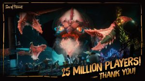 Sea of Thieves Hits 25 Million Players, Rare is Giving Away 25 Million Gold