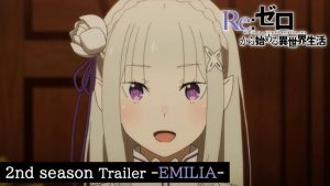Re:Zero Second Season Trailer, Premieres Airing July 8
