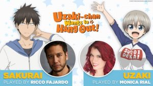 Funimation Announce Ricco Fajardo and Monica Rial to Dub Uzaki-chan Wants to Hang Out!; Premieres September 11