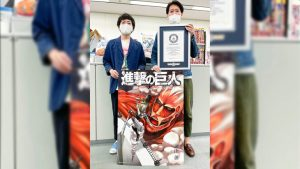 Attack on Titan For Titans Edition Receives Guinness World Record for Largest Comic