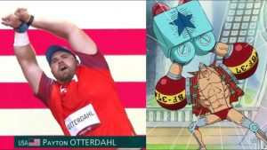 Greek and American Olympians Do One Piece Poses, Place 1st and 10th
